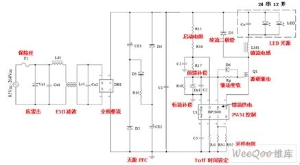 基于bp2808的led日光灯驱动设计图片