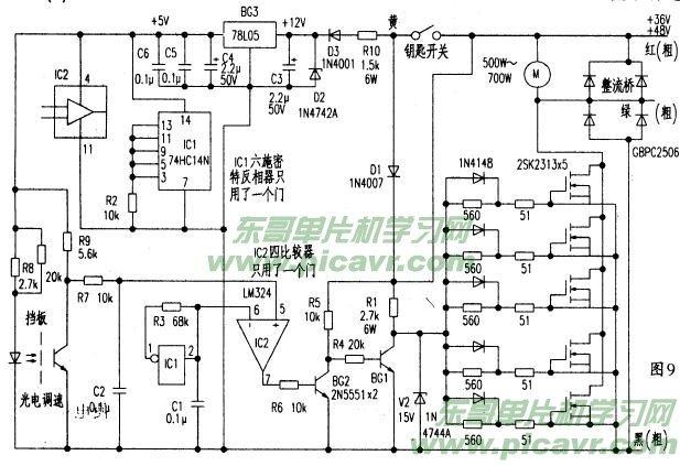 电路原理方框图及接线图见图8所示.