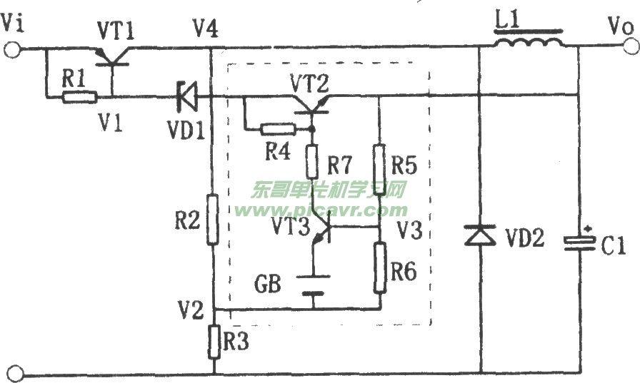 三端稳压器制作的开关稳压电源电路图