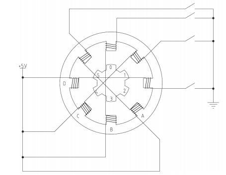 步進電機內部結構示意圖圖片