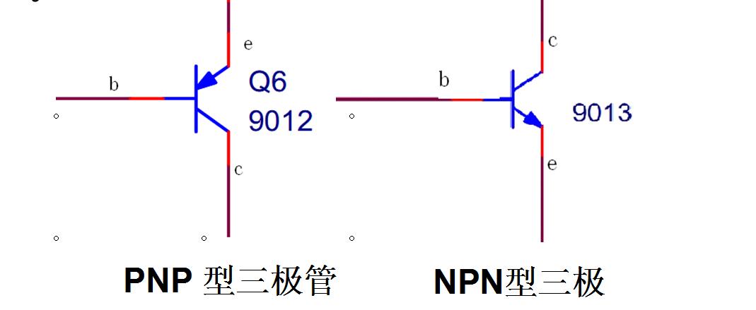 三极管共有2种类型,分别是pnp型和npn型,先来认识一下.
