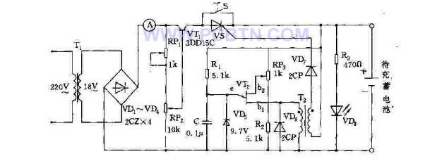 技术资料 电路图 电源电路 多功能自动充电器的工作原理    电路是