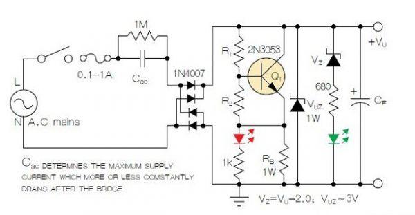 led变压器并联接线图