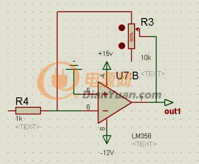 运算放大电路 自d/a转换器所输出的电压v