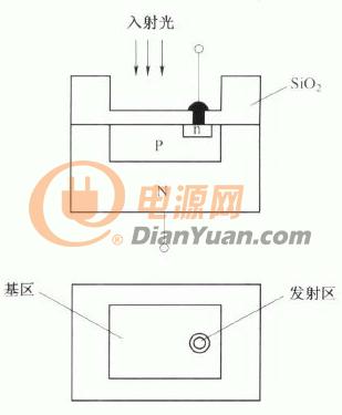 光敏晶体管芯片结构示意图