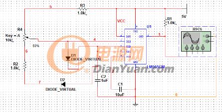 基于555定时器的占空比可调方波发生器设计