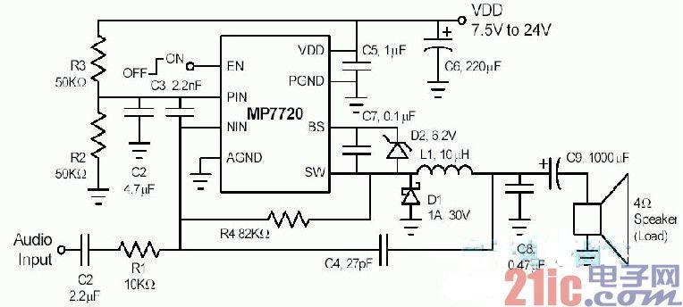 数字功放电路图