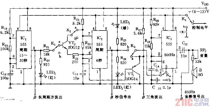 555多种信号发生器电路图
