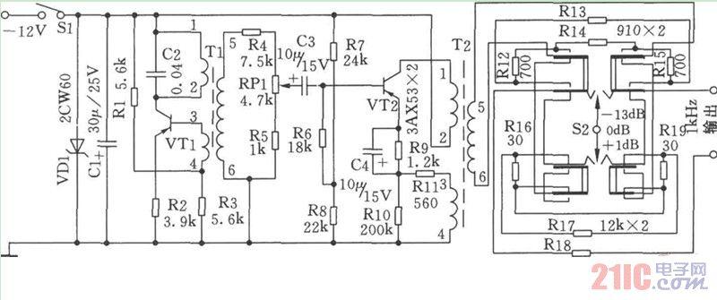 1khz信号发生器电路图