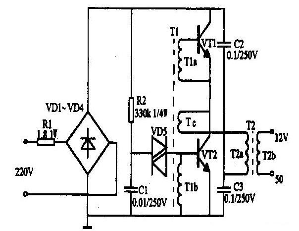 电子变压器的电路原理图