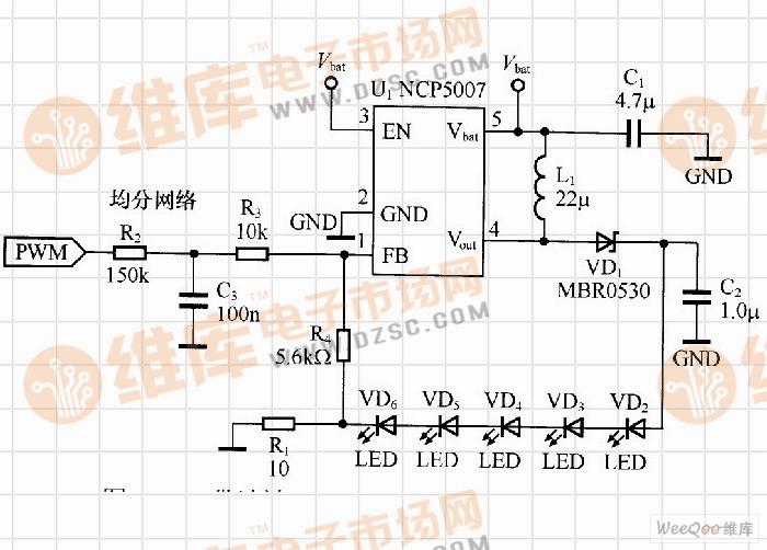 带滤波pwm调光功能的led驱动电路