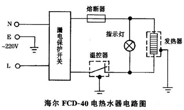 一款海尔-fcd-40热水器电路图