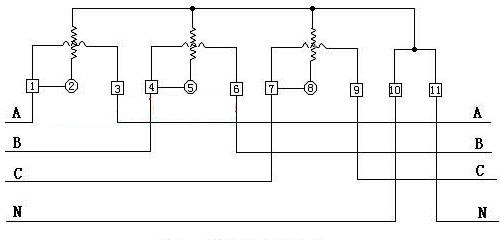 三相电度表接线电路图