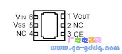 8AV 贴片(XC6701BE7ER) 引脚图