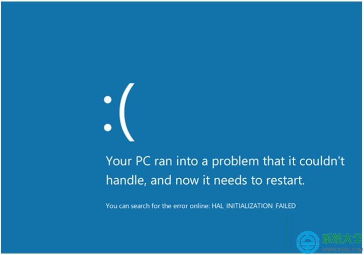 win8.1系統藍屏錯誤代碼0x00000005怎么辦?圖片