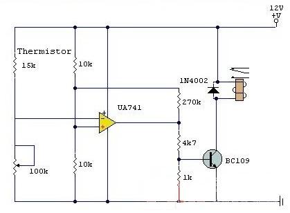 在这个电路中的运算放大器,是无处不在的 741.