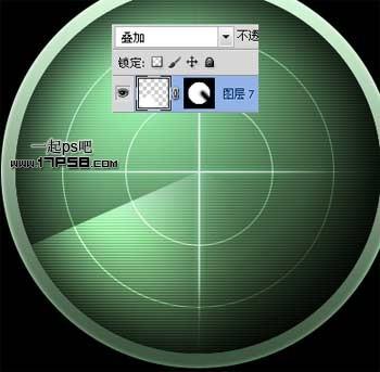 雷达扫描矢量素材
