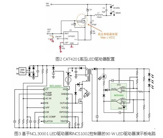 三类LED区域照明电源的典型驱动方案 电源技术