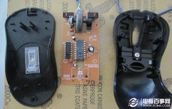 鼠标内部结构 由于是鼠标左键有问题,因此我们重点处理的对象就是