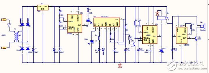 电路立即翻转,信号输出端3脚立即转为高电平输出,同时具有延时功能.