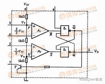 集成电路定时器555内部结构电路图