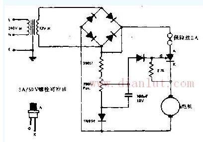 模型火车或汽车的速度控制电路的简单应用