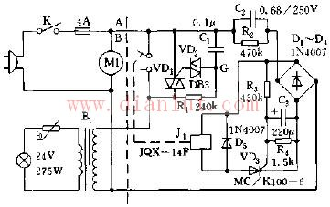 3m投影仪灯泡保护电路原理图