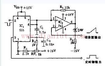 自举电压锯齿波发生器的电路原理图片