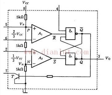 集成电路定时器555内部结构及工作原理