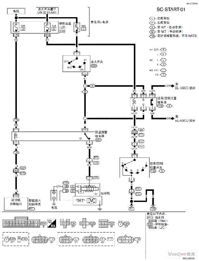 天籁a33-sc起动系统电路图图片