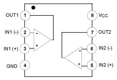 LM358引脚图及引脚功能