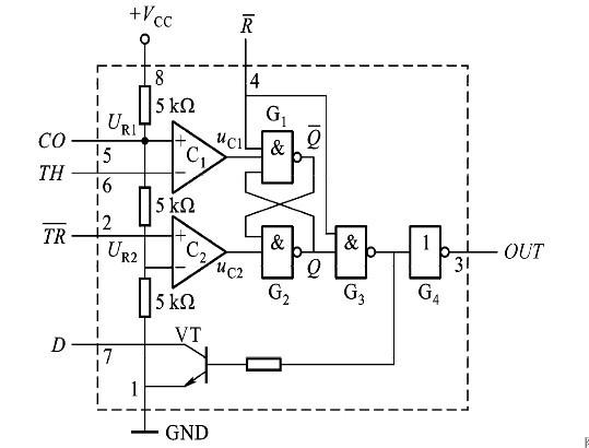 图4 555定时器的内部结构