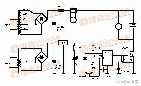 简易自制高效电动车电瓶修复器电路