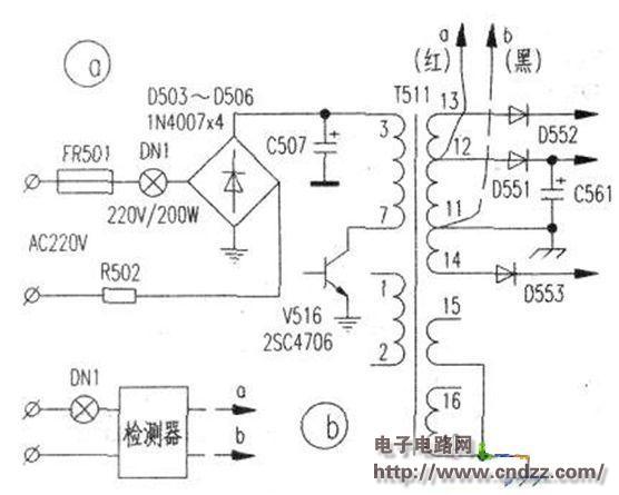 开关变压器检测器制作电路图