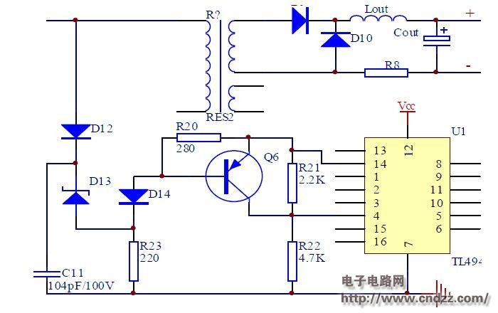 采用TL494设计的开关电源图片