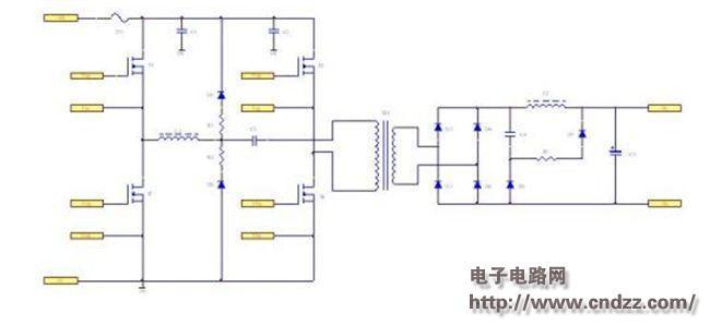 大功率ac/dc开关电源之无源钳位移相全桥电路