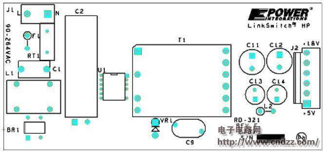 使用lnk6774v设计的17w隔离反激式转换器,附电路图,物料清单,规格文件
