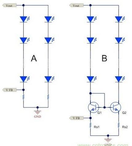 手机双led驱动电路图