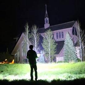 史上超级LED手电筒 照亮一大片森林