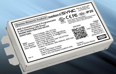 Thomas Research推出新型可编程SelectSync LED驱动器