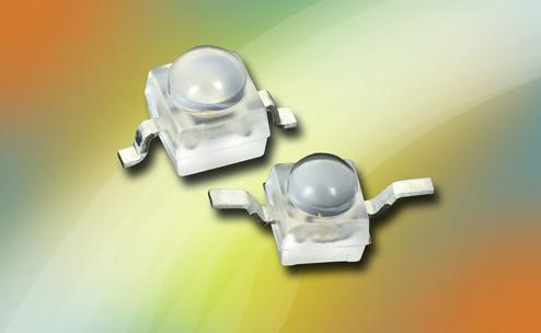 Vishya发布采用半球形透镜的新系列大红、红、琥珀和黄色超亮LED