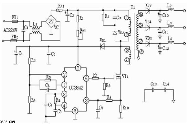 pwm开关电源集成控制ic-uc3842工作原理