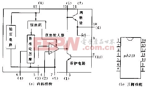 a723内部结构和引脚功能电路