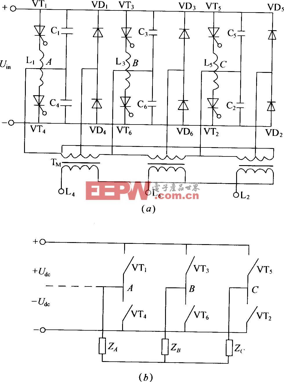 三相桥式逆变器电路图图片