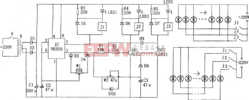 基于ne555芯片设计刹车灯监视电路