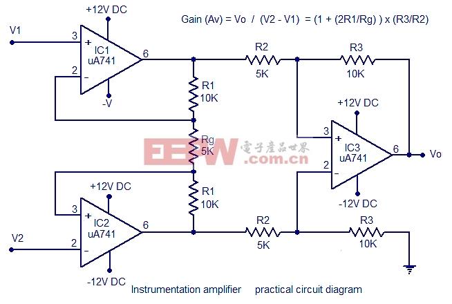 仪表放大器电路设计