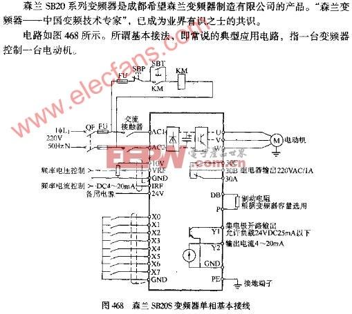 森兰sb20s变频器单相基本接线图