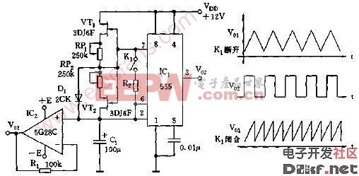 多种波形发生器电路图1