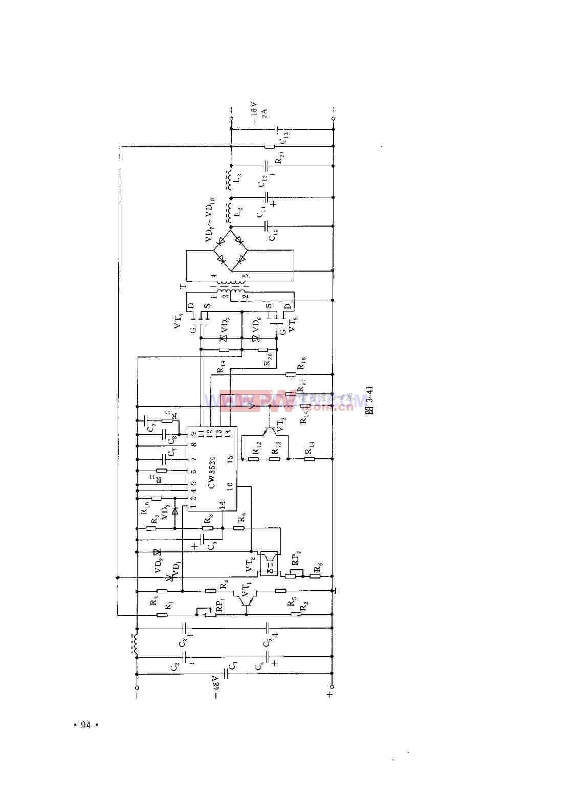 cw3524是目前在国内较为流行的脉宽调制型开关稳压电源集成控制