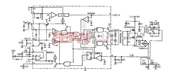 34067使用电路图,一款具有动态偏压的甲类放大器电路原理图.-